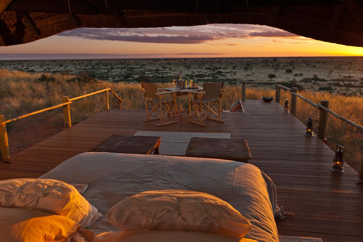 Kalahari Desert, zonsondergang
