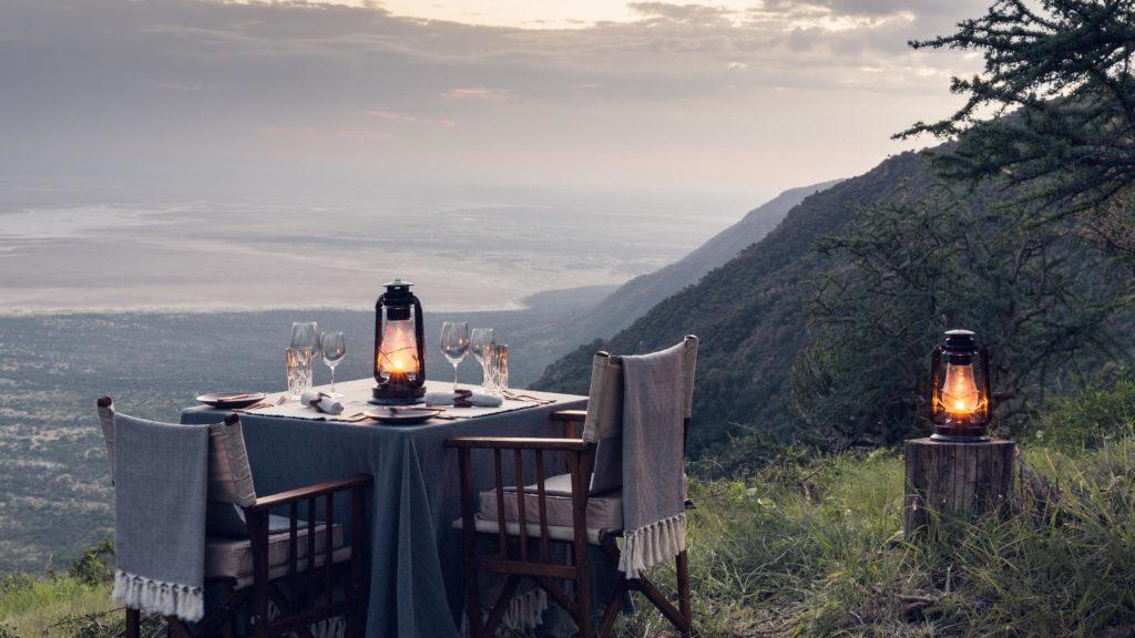 Mwiba Diner uitzicht