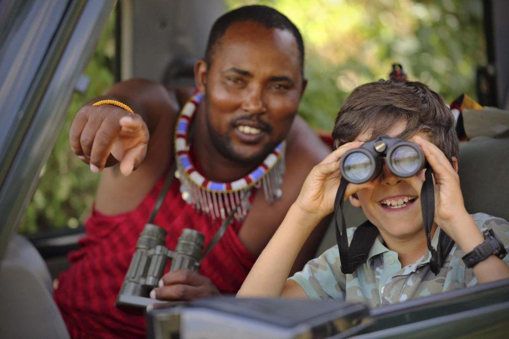 kenia game drive kinderen